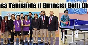 Okullar arası masa tenisi il birinciliği müsabakaları sona erdi
