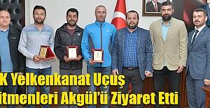 THK Yelkenkanat Uçuş Eğitmenleri Akgül'ü Ziyaret Etti