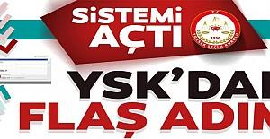 YSK'nın seçmen sistemi açıldı