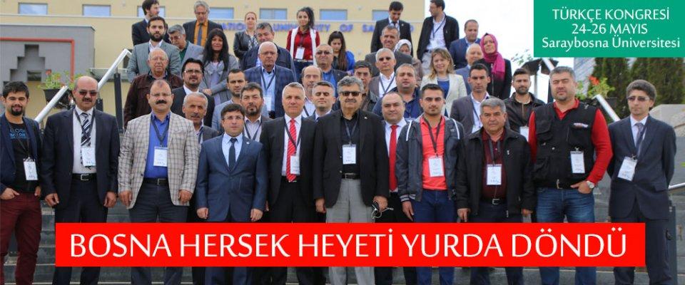 TÜRKÇE KONGRESİ HEYETİ KARAMAN#039;A DÖNDÜ
