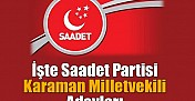 Saadet'in M.V. Adayları..