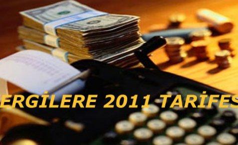 Vergilere 2011 Tarifesi:''%7.7 zam''
