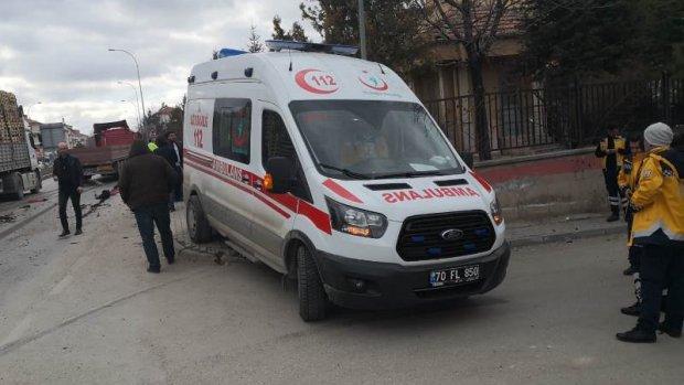 Tır Ambulansı Biçti